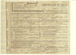 Birth Cert. William Alfred Shannon